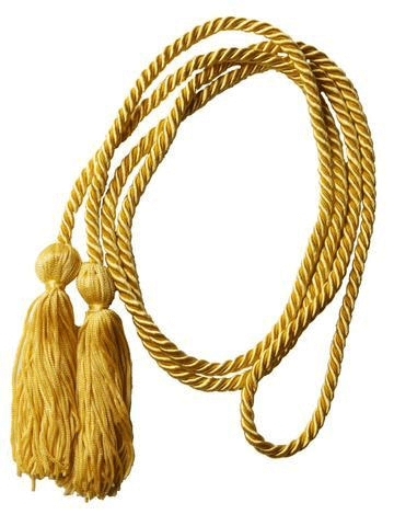 Honor Graduation Cords in Gold