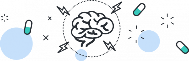 Brain and Pill icons