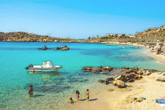 Paranga Beaches, Mykonos, Greece