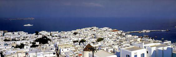 Apano Myloi sights, Mykonos town, Mykonos, Greece