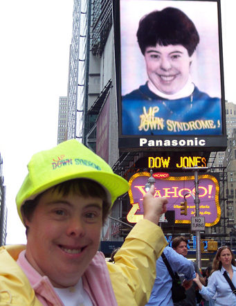 Annie in Times Square, NY
