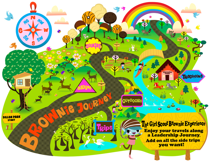 Brownie map