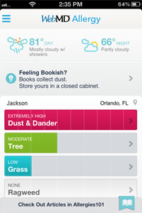 WebMD Allergy App Screenshot 3
