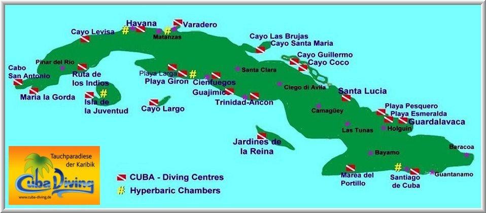 Übersicht der Tauchbasen auf Kuba und die besten Tauchplätze!