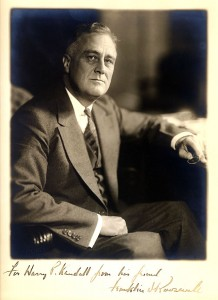 'To Harry Kendall from his friend, Franklin D. Roosevelt""