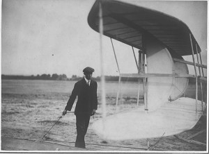 Wilbur Wright in Auvours, France 1908