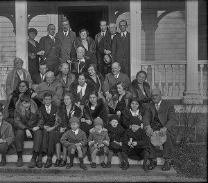 Plimpton and Kendall families at Homestead, Walpole, Thanksgiving 1932