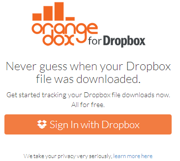 Track Dropbox Downloads with Orangedox 1