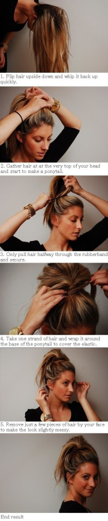 How To Vintage Hairstyles Messy Bun