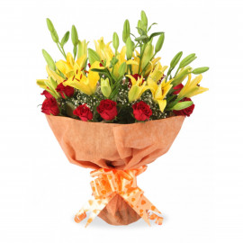 Roses and Lilies Arrangements