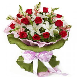 Lilies and Roses Bunch