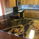 Magma Gold Granite #gioindustries #kitchenreno #magmagold #granite #custom #countertops #edmonton #design #yeg #natural #stone #cnc #lasermeasure #freequotes
