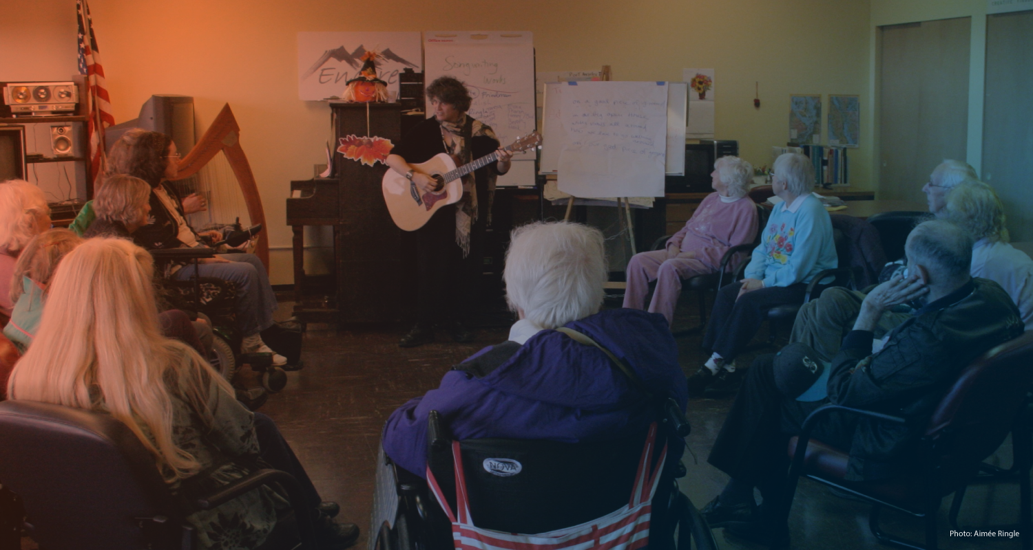 We engage elders, youth and families in composing and performing their own original songs