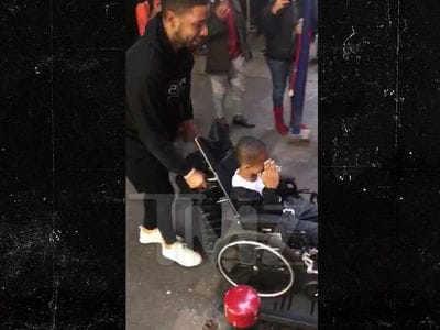 'Empire' Star Jussie Smollett Gives Amputee Boy Handicapped-Accessible Van