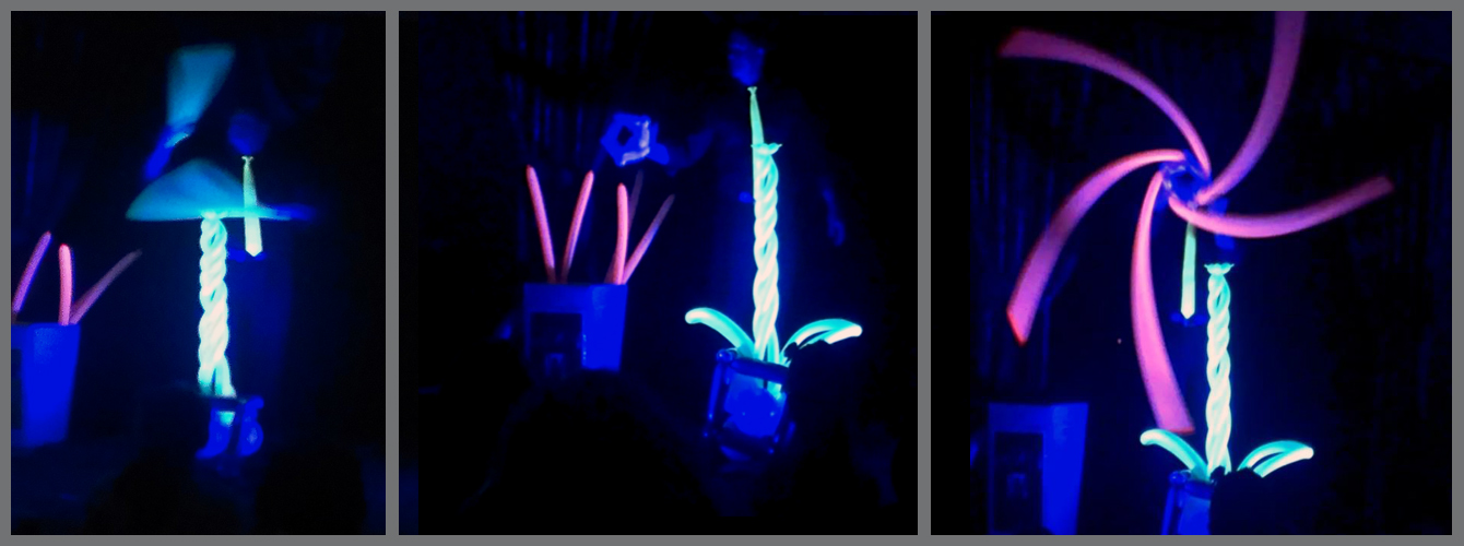Blacklight-show for libraries programs. Magical Balloon-dude Dale balloon show Art of Inlfation