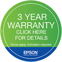 Epson 3 Year Warranty Available on the Epson Printer - Click here for details
