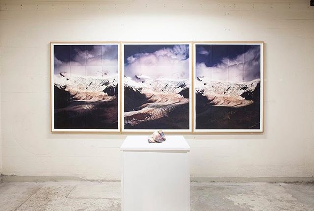 An install image from our show Sculptural Landscapes at @copenhagenphotofestival curated by @trinestephensen with artists @adamjeppesen___ @inkaandniclas @johanosterholm @mbjornmyr @miriamhnielsen