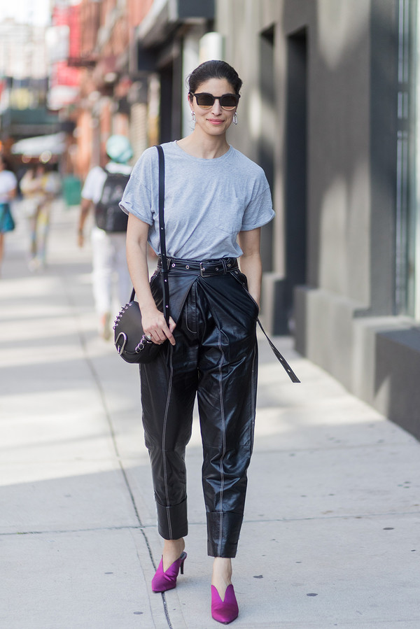 How to wear your high-waisted trousers 1