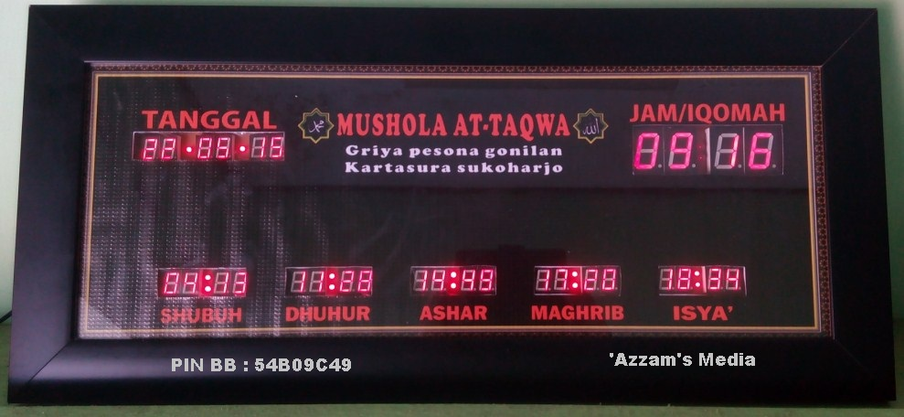 Jadwal-Sholat-Digital-Jam-Digital-Masjid-Jadwal-Sholat-Digital-Buat-Jual-tipe-A0-Mini-Black-Kartosuro