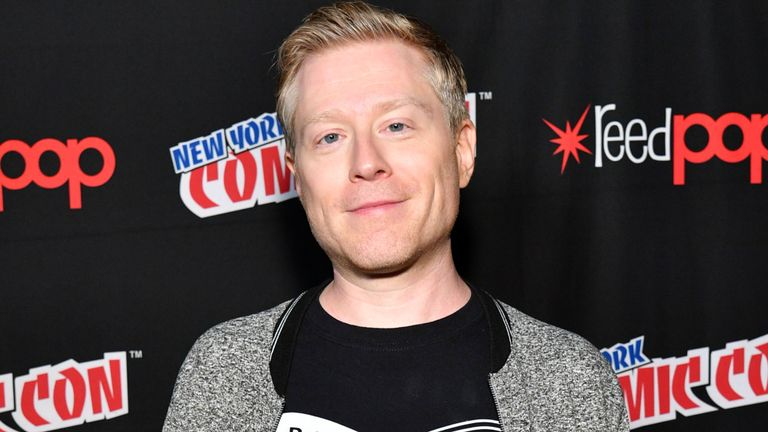speak onstage during the ___ panel during 2017 New York Comic Con - Day 3 at Theater at Madison Square Gardenon October 7, 2017 in New York City.
