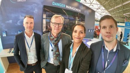 Coptersafety team and Ari Vatanen at Helitech