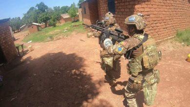 Portuguese paratroopers in Bambari