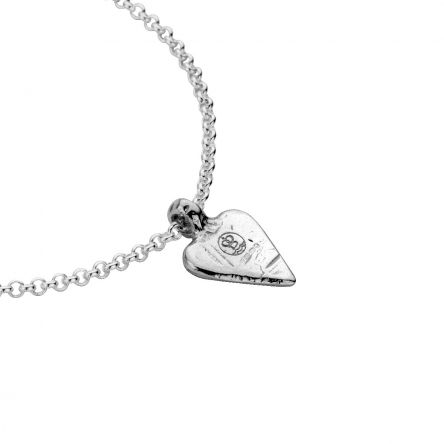 Silver Mini Heart Chain Bracelet detailed