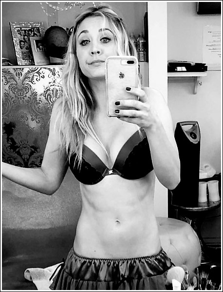 Kaley Cuoco Selfies Her Massive Cleavage And Tight Body In Naughty Lingerie… WOW!