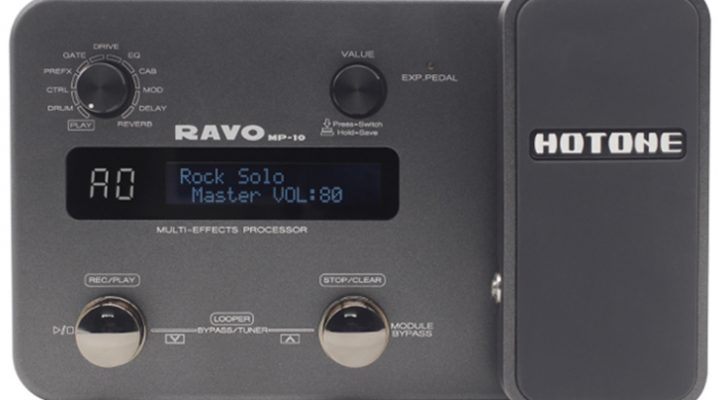 Hotone Ravo MP-10 multi-effects processor and USB audio interface