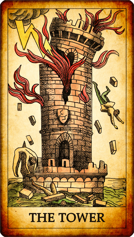 Image result for picture of tower tarot card