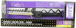 Hot Tools Professional Tapered Curling Iron, Gold Curling Iron, Small