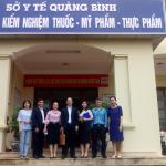 Lãnh đạo Viện Kiểm nghiệm thuốc Trung ương  làm việc tại Trung tâm Kiểm nghiệm dược phẩm – mỹ phẩm Quảng Bình và Trung tâm Kiểm nghiệm thuốc, mỹ phẩm thực phẩm Quảng Trị.