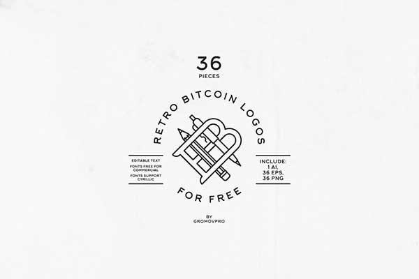 36-Retro-Bitcoin-Logos-(FREE-TEMPLATES)