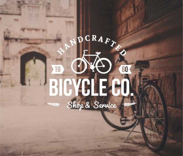 Bicycle-badge-in-retro-style-Free