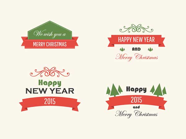 Free-Vintage-Vector-Christmas-Badges