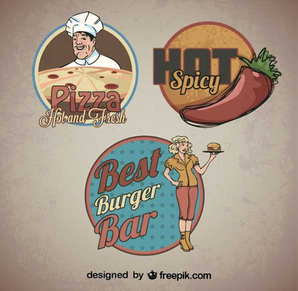 Food-Sticker-Retro-Logo-Templates-Free