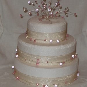 Crystal and Pearl Cake Topper with Garlands | Precious Cake Tops