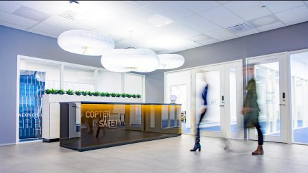 Coptersafety helicopter pilot training base lobby