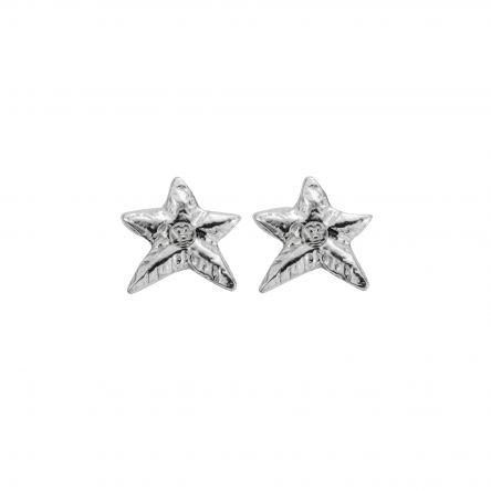 Silver Mini Star Stud Earrings