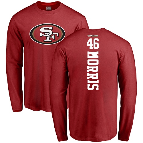 Alfred Morris Red Backer Football : San Francisco 49ers #46 Long Sleeve T-Shirt