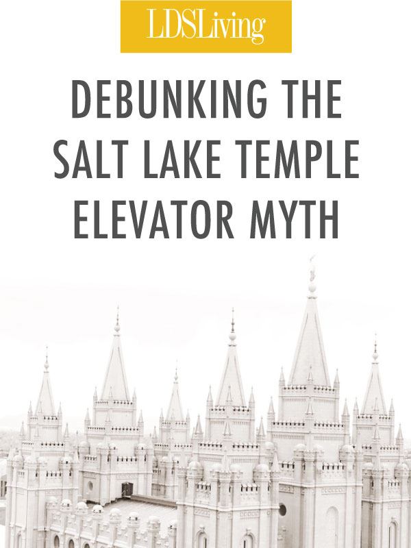 We know the Salt Lake Temple was built by inspiration. But one common myth about this beautiful house of God doesn't quite explain that inspiration correctly.