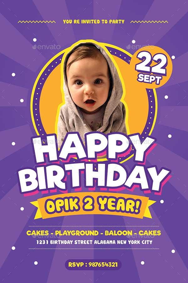 Colorful-Kids-Birthday-Flyer-Invitation