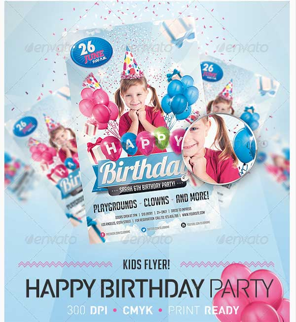 Kids-Birthday-Invitation-Party-Flyer
