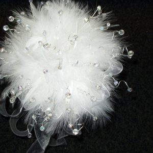 Czech Crystal and Feather Bouquet | Precious Cake Tops