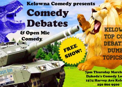 ComedyDebates&OpenMic7pmThursdayMarch14th