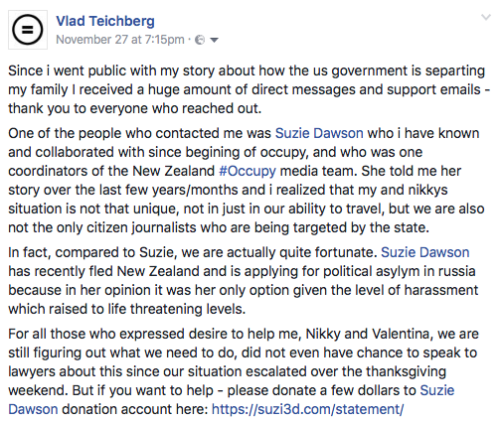 November 27th, 2016: Suzie's friend & colleague Vlad from GlobalRev Live is stranded in New York after his passport is effectively cancelled by the US govt. He writes a Facebook post stating that he believes their cases are connected and that what is...