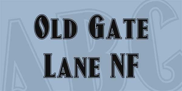 Old-Gate-Lane-NF-Font