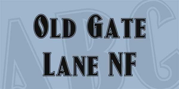 Old-Gate-Lane-NF-Font