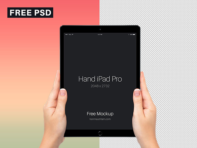 Free-Hand-with-iPad-Pro-PSD-Mockup