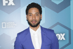 NEW YORK CITY - MAY 16: Jussie Smollett arrives at the FOX 2016 Programming Presentation red carpet arrivals at the Wollman Rink in Central Park on Monday, May 16, 2016, in New York City. (Credit: Diego Corredor / MediaPunch /IPX)
